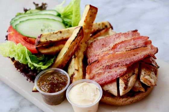 Chicken & Bacon Burger