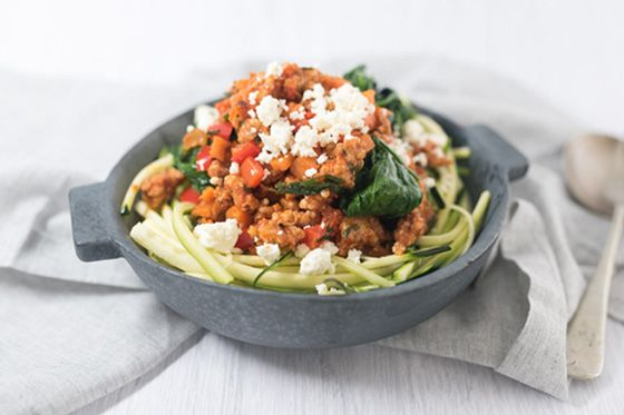 Chicken Bolognese Zoodles