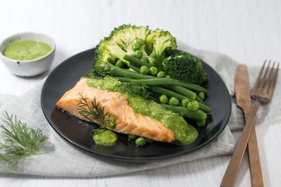 Garlic Basil Salmon
