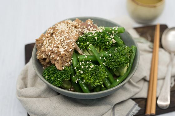 Miso Pork and Green Vegetables